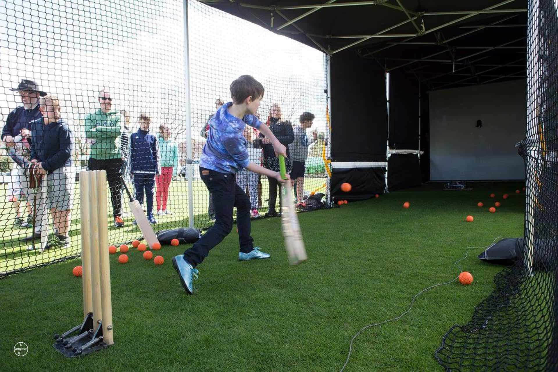 Kent County Cricket Club Batfast Outdoor Cricket Simulator